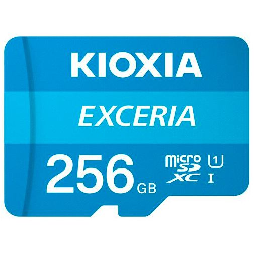 Productafbeelding van de Kioxia Exceria MicroSDXC 256GB + SD-adapter