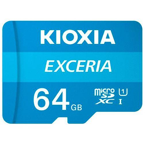 Productafbeelding van de Kioxia Exceria MicroSDXC 64GB + SD-adapter