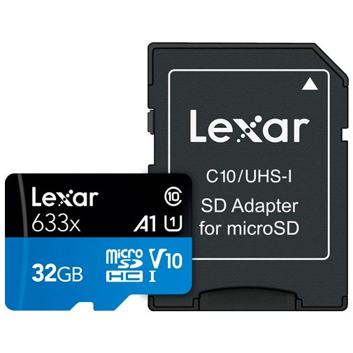 Productafbeelding van de Lexar High Performance 633x MicroSDHC 32GB + SD-adapter