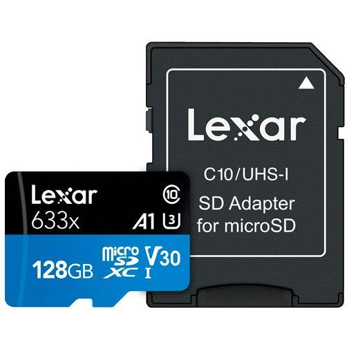 Productafbeelding van de Lexar High Performance 633x MicroSDXC 128GB + SD-adapter