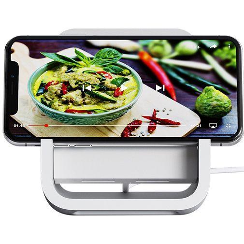 Productafbeelding van de Logitech Powered Wireless Charging Stand White