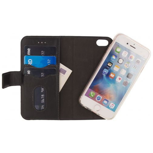 Productafbeelding van de Mobilize 2-in-1 Gelly Wallet Case Black Apple iPhone 7/8/SE 2020