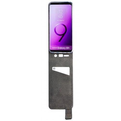 Produktimage des Mobilize Classic Gelly Flip Case Schwarz Samsung Galaxy S9+