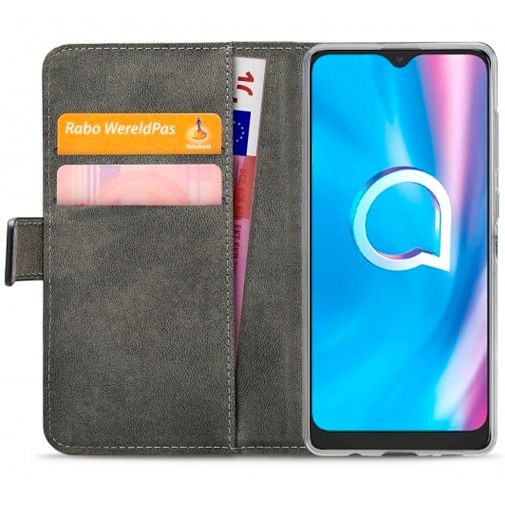 Productafbeelding van de Mobilize Classic Gelly Wallet Book Case Black Alcatel 1SE (2020)