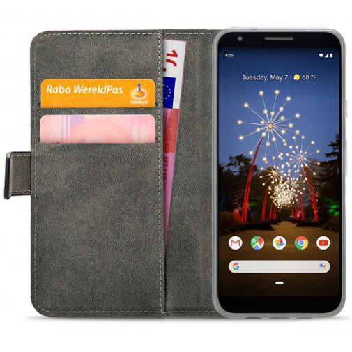 Productafbeelding van de Mobilize Classic Gelly Wallet Book Case Black Google Pixel 3a XL