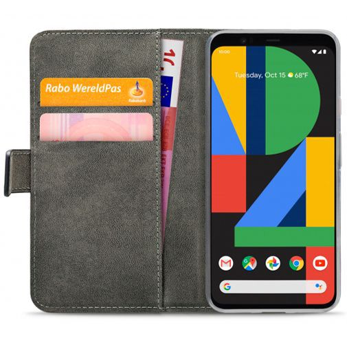 Productafbeelding van de Mobilize Classic Gelly Wallet Book Case Black Google Pixel 4 XL