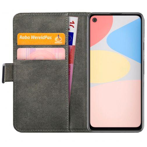 Productafbeelding van de Mobilize Classic Gelly Wallet Book Case Black Google Pixel 4a
