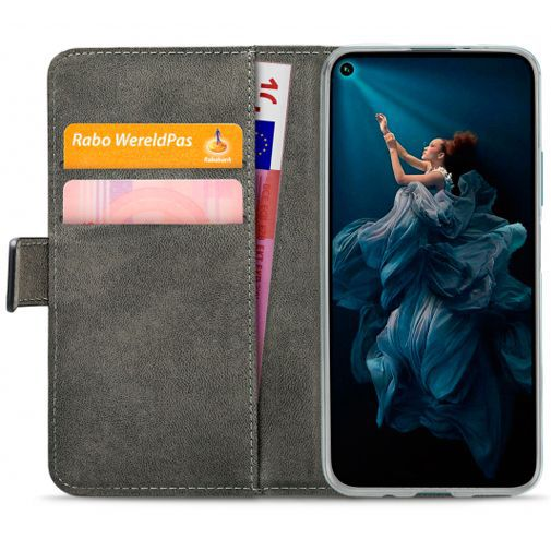 Productafbeelding van de Mobilize Classic Gelly Wallet Book Case Black Honor 20 Pro