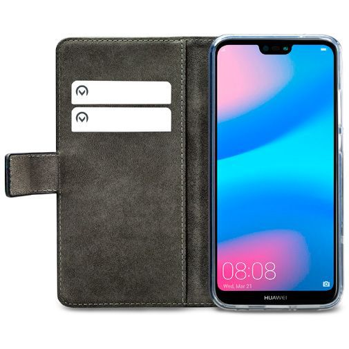 Produktimage des Mobilize Classic Gelly Wallet Book Case Schwarz Huawei P20 Lite