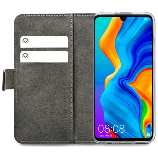 Productafbeelding van de Mobilize Classic Gelly Wallet Book Case Black Huawei P30 Lite/P30 Lite New Edition