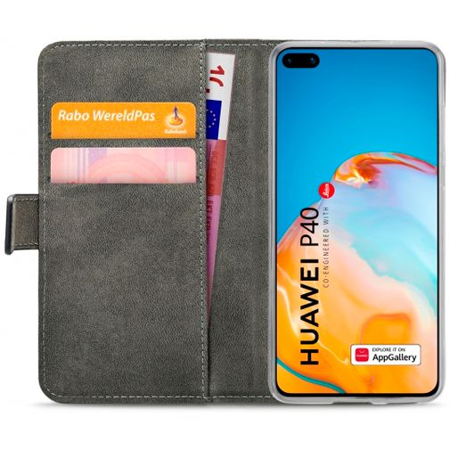 Productafbeelding van de Mobilize Classic Gelly Wallet Book Case Black Huawei P40