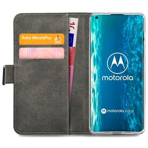 Productafbeelding van de Mobilize Classic Gelly Wallet Book Case Black Motorola Edge