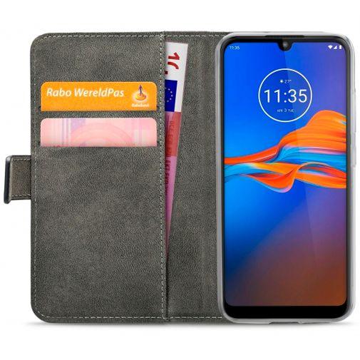 Productafbeelding van de Mobilize Classic Gelly Wallet Book Case Black Motorola Moto E6 Plus