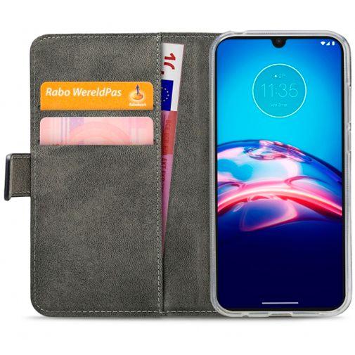 Productafbeelding van de Mobilize Classic Gelly Wallet Book Case Black Motorola Moto E6s