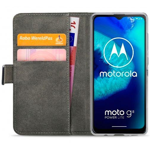 Productafbeelding van de Mobilize Classic Gelly Wallet Book Case Black Motorola Moto G8 Power Lite