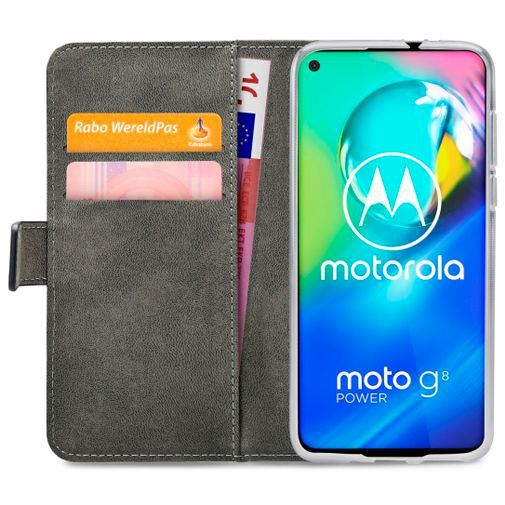 Productafbeelding van de Mobilize Classic Gelly Wallet Book Case Black Motorola Moto G8 Power