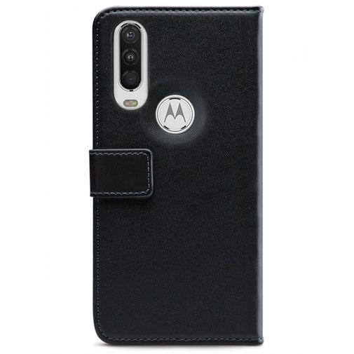 Productafbeelding van de Mobilize Classic Gelly Wallet Book Case Black Motorola One Action