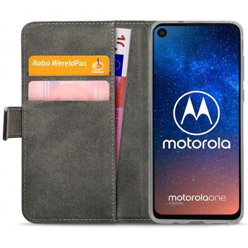 Productafbeelding van de Mobilize Classic Gelly Wallet Book Case Black Motorola One Vision