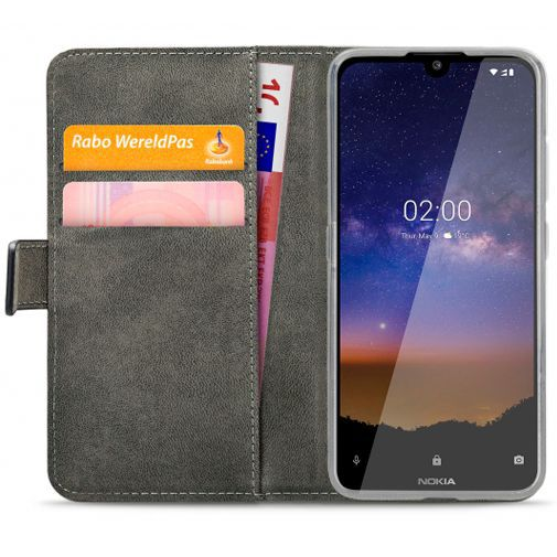 Produktimage des Mobilize Classic Gelly Wallet Book Case Schwarz Nokia 2.2