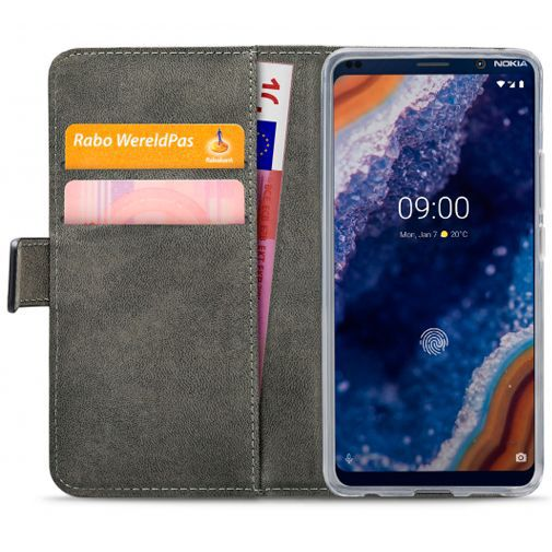 Produktimage des Mobilize Classic Gelly Wallet Book Case Schwarz Nokia 9 PureView