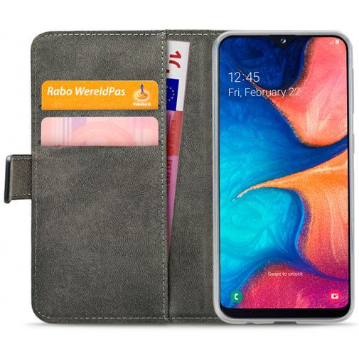Produktimage des Mobilize Classic Gelly Wallet Book Case Schwarz Samsung Galaxy A20e