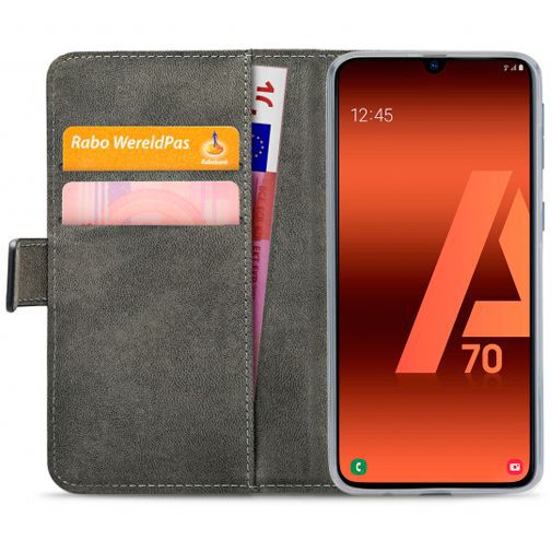 Produktimage des Mobilize Classic Gelly Wallet Book Case Schwarz Samsung Galaxy A70