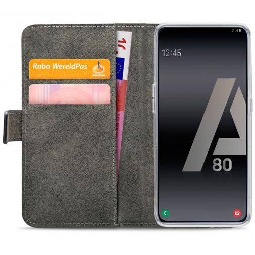 Productafbeelding van de Mobilize Classic Gelly Wallet Book Case Black Samsung Galaxy A80