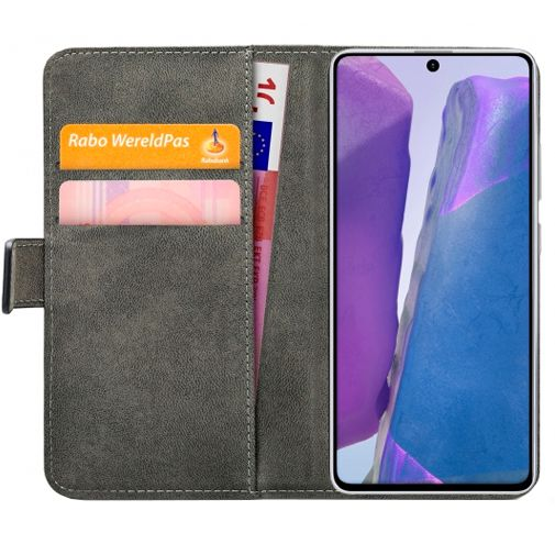 Productafbeelding van de Mobilize Classic Gelly Wallet Book Case Black Samsung Galaxy Note 20 Ultra