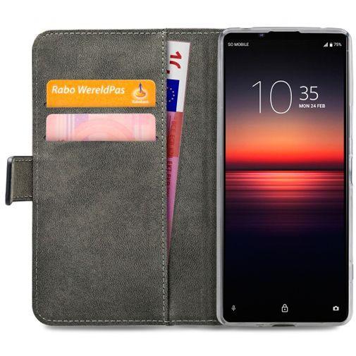 Productafbeelding van de Mobilize Classic Gelly Wallet Book Case Black Sony Xperia 1 II