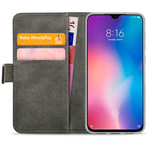 Produktimage des Mobilize Classic Gelly Wallet Book Case Schwarz Xiaomi Mi 9 SE