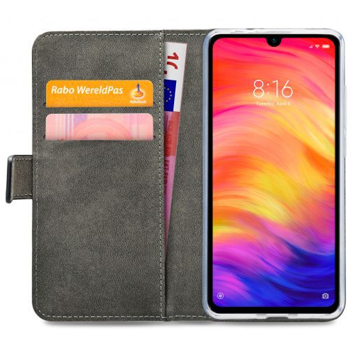 Produktimage des Mobilize Classic Gelly Wallet Book Case Schwarz Xiaomi Redmi Note 7