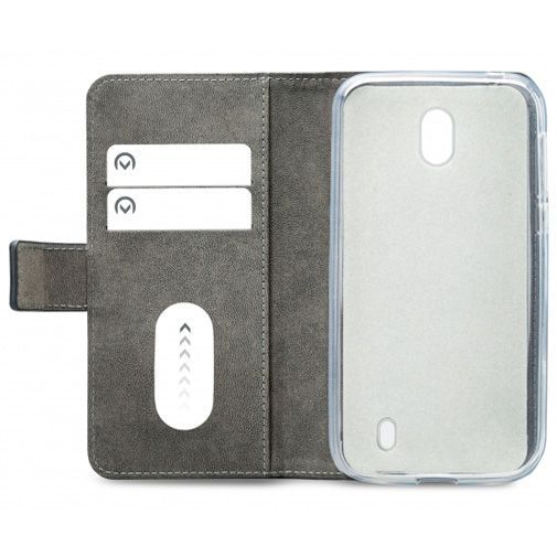 Productafbeelding van de Mobilize Classic Gelly Wallet Book Case Black Nokia 1