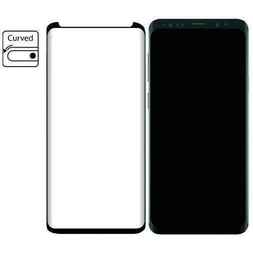 Productafbeelding van de Mobilize Edge-To-Edge Glass Screenprotector Samsung Galaxy S9+ Black