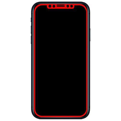 Produktimage des Mobilize Edge-To-Edge Glas Displayschutzfolie Schwarz Apple iPhone XR/11