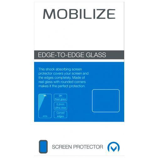 Productafbeelding van de Mobilize Edge-To-Edge Glass Screenprotector Black OnePlus 8