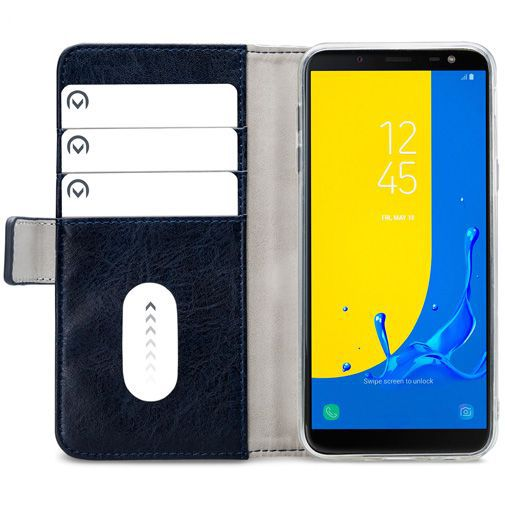 Produktimage des Mobilize Elite Gelly Wallet Book Case Blau Samsung Galaxy J6