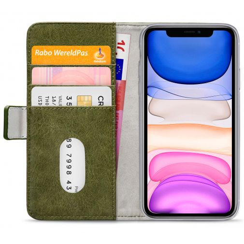 Productafbeelding van de Mobilize Elite Gelly Wallet Book Case Green Apple iPhone 11
