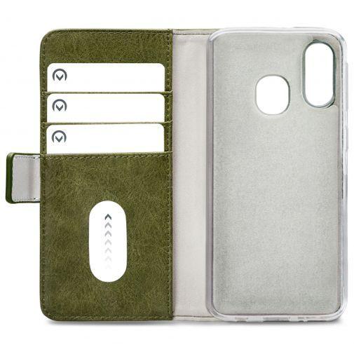 Produktimage des Mobilize Elite Gelly Wallet Book Case Grün Samsung Galaxy A40