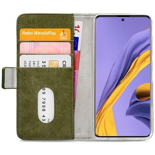 Productafbeelding van de Mobilize Elite Gelly Wallet Book Case Green Samsung Galaxy A71