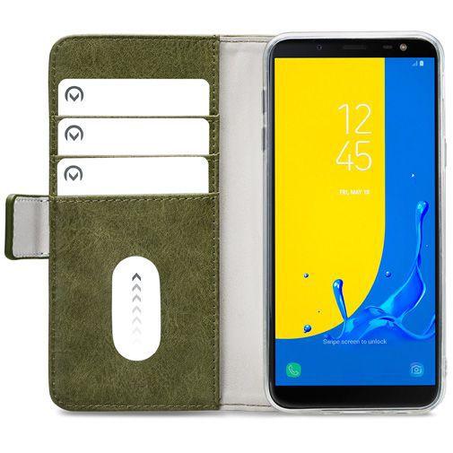 Productafbeelding van de Mobilize Elite Gelly Wallet Book Case Green Samsung Galaxy J6