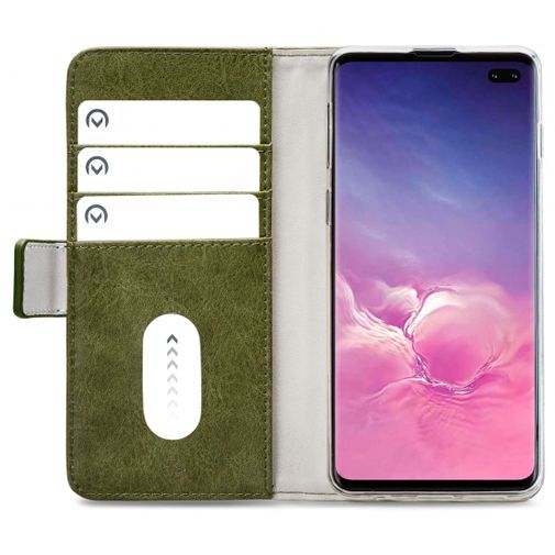 Productafbeelding van de Mobilize Elite Gelly Wallet Book Case Green Samsung Galaxy S10+