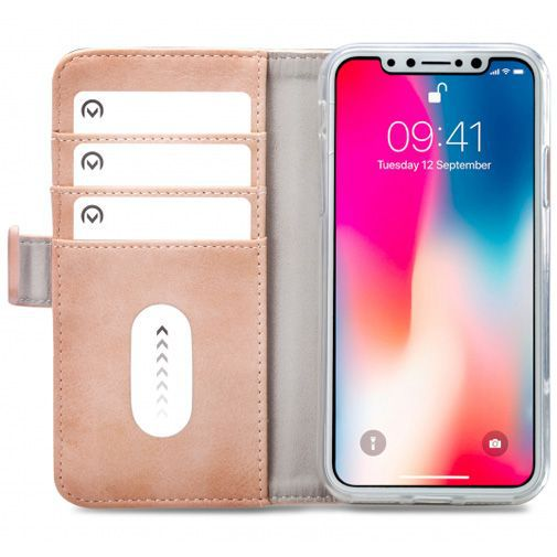 Productafbeelding van de Mobilize Elite Gelly Wallet Book Case Pink Apple iPhone X/XS