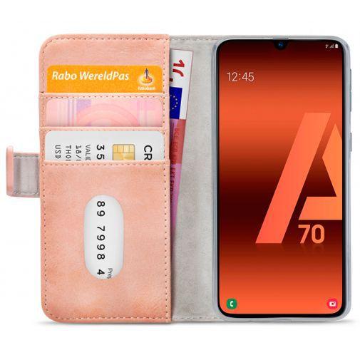 Productafbeelding van de Mobilize Elite Gelly Wallet Book Case Pink Samsung Galaxy A70