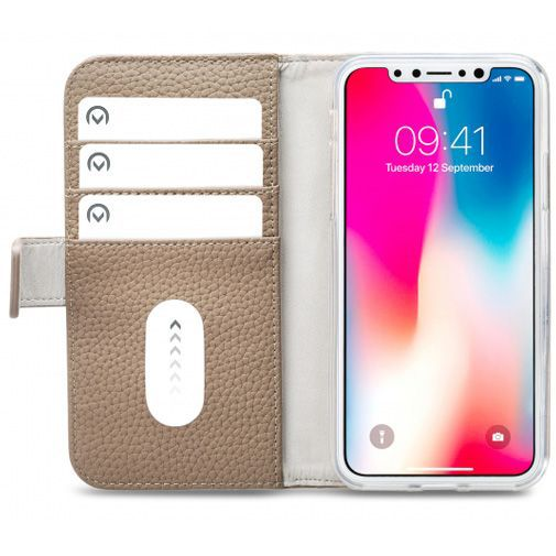 Productafbeelding van de Mobilize Elite Gelly Wallet Book Case Taupe Apple iPhone X/XS