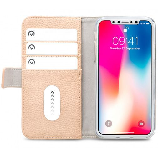 Produktimage des Mobilize Elite Gelly Wallet Book Case Sand Apple iPhone X/XS