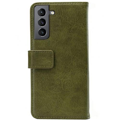 Productafbeelding van de Mobilize Elite PU-leer Book Case Groen Samsung Galaxy S21+