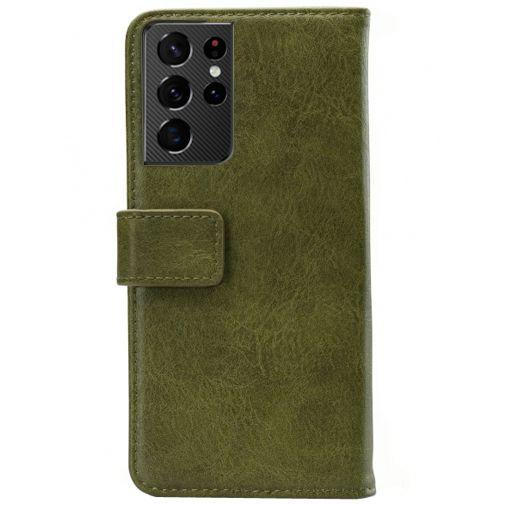 Productafbeelding van de Mobilize Elite PU-leer Book Case Groen Samsung Galaxy S21 Ultra
