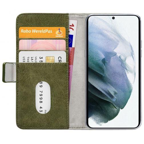 Productafbeelding van de Mobilize Elite PU-leer Book Case Groen Samsung Galaxy S21