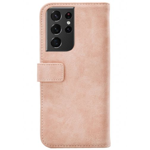 Productafbeelding van de Mobilize Elite PU-leer Book Case Roze Samsung Galaxy S21 Ultra