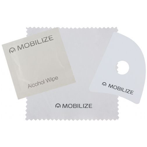 Productafbeelding van de Mobilize Full Coverage Safety Glass Screenprotector Black Apple iPhone 6 Plus/6S Plus/7 Plus/8 Plus